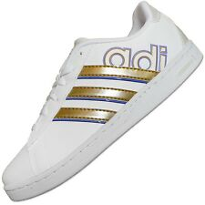 Adidas Originals Derby Neo Label Ladies' Shoes Trainers White / Gold New