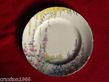 E Brain Foley bone china Hollyhock pattern  tea-plate 7 available
