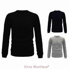 MENS KNITTED CREW NECK FASHION PULLOVER SWEATER CASUAL WARM JUMPER JERSEY S-XXL