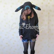 Pokemon Umbreon Hoodie Coat Jumper Hooded Sweater Cosplay Costume Xmas Outfit