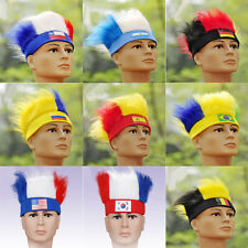 New Men's Tide Wig Hat Brazil World Cup FIFA National Fans Soccer Wigs NC13