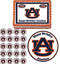 Auburn Tigers Edible Birthday Cake Cupcake Toppers Party Decorations Images