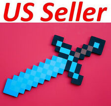 Brand New Minecraft Diamond Iron Gold Sword Or Pickaxe, Foam Weapons & Tools