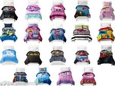 KIDS GIRL BOYS BED IN A BAG / COMFORTER SET - MULTIPLE CHARACTERS/THEMES
