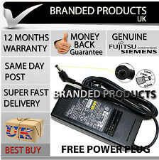 New Genuine Original Fujitsu Laptop Battery AC Charger Power Adapter Free Plug