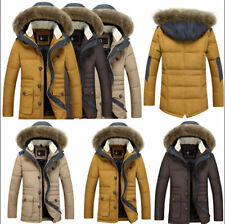 Men's Warm Duck Down Jacket Fur Collar Thick Winter Coat Outwear Hooded Parka