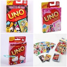 GENIUNE MATTEL UNO CARD GAME HOME GAME HELLO KITTY/MONSTER HIGH/BARBIE/ONE PIECE