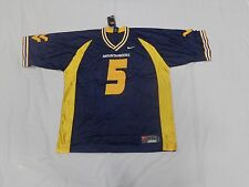 West Virginia Mountaineers Football Jersey Blue 5 Mountaineers