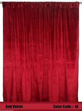 Saaria Red Velvet Backdrop Home Window Treatments Banquet Curtain Panels20' Wide
