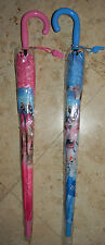 New Disney Frozen Elsa & Anna OLAF Easy Release Umbrella Pink or Blue LARGE