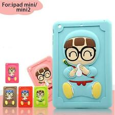 3D Cute Cartoon Baby Feeding-bottle Cover Soft Silicone Case For ipad Mini 1/2/3