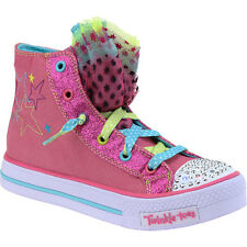 SKECHERS Girls' Twinkle Toes Hip Chix Light-Up High-Top Shoes