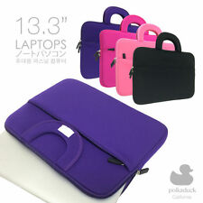 "Slim Padded Fuchsia Designer Fashion 13.3"" Laptop Carrying Bag Sleeve Case Cover"