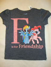 "OLD NAVY /  MY LITTLE PONY ALPHABET GRAPHIC TEE SHIRT NWT  ""F IS FOR FRIENDSHIP"""