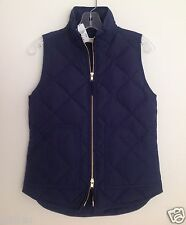 J. Crew Factory Excursion Quilted Puffer Vest Color: Dark Navy NWT Size: XXS-L