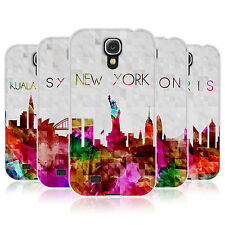 HEAD CASE WATERCOLOURED SKYLINE GEL BACK CASE COVER FOR SAMSUNG GALAXY S4 I9500