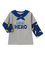 NWT Gymboree SUPER DUDE Size 2T 3T 4T 5T Gray Local Super Hero Top Shirt