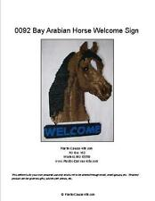 Bay Arabian Horse Welcome Sign- Plastic Canvas Pattern or Kit
