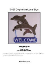 Dolphin Welcome Sign- Plastic Canvas Pattern or Kit