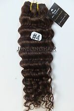 100g 100%Real Human Hair Deep Human Hair Weft Curly Weaving Extensions,#4 Brown