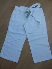 Next maternity long shorts cropped trousers size 8 white linen NEW
