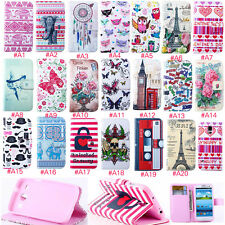 Flip Leather Case Cute Pattern Soft Rubber Cover Stand For Samsung Galaxy Phone