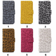 "Wallet Case For iPhone 4 4S 5 5S 5C 6 4.7"" Leopard Style PU Leather Phone Case"
