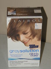 CLAIROL NICE' N EASY GRAY SOLUTION HAIR COLOR *PICK COLOR*