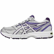 Asics Gel-Emperor 2 White Purple Womens Jogging Running Shoes Trainer Sneakers