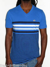 Ecko Unlimited Shirt New Mens Azure Blue Stripe V Neck Tee Choose Size