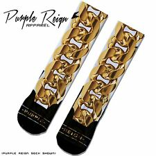 "NIKE JORDAN 2CHAINZ "" ME TIME "" Custom Premium Socks (ALL SZ) SWAG Dope foam"
