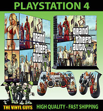 PS4 PLAYSTATION 4 CONSOLE STICKER GTA V GRAND THEFT COVER SKIN + 2 X PAD SKINS