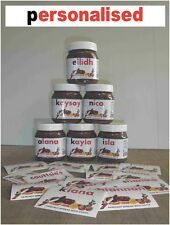 PERSONALISED Labels for Jars of Nutella order 1,2,3,4,5,6,7,8 400g or 700g JARS