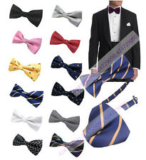 Men's Bowtie Jacquard Weaves Pattern Styles Adjustable Casual Formal Bow Tie