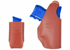 New Barsony Burgundy Leather OWB Holster + Mag Pouch for Walther Comp 9mm 40 45