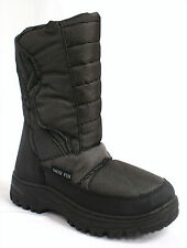 Ladies Flat Fur Lined Grip Sole Mid Calf Winter Ski Snow Moon Boots Size