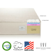"Brentwood Home 7"" Gel Infused HD Memory Foam Mattress, 100% USA, CertiPUR-US"