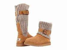 Women's Shoes UGG Australia Cambridge Suede & Knit Boots 1003175 Chestnut *New*