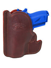 New Barsony Burgundy Leather Pocket Holster Ruger Kel-Tec Small Mini 22 25 380