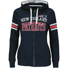 NFL New England Patriots Majestic Womens Pure Heritage VI Full Zip Hoodie Jacket
