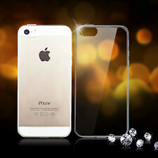 Transparent Anti-Dust Plug Soft TPU Crystal Clear Case Cover for iPhone 4S 5S