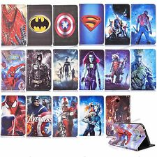 For Samsung Galaxy Tab T210 P3200 T530 Spiderman Batman Ironman Leather cases