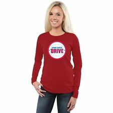Grand Rapids Drive Ladies Primary Logo Long Sleeve Slim Fit T-Shirt - Red