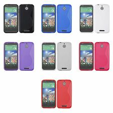 HTC DESIRE 510 S LINE SILICONE GEL COVER CASE AND SCREEN PROTECTOR