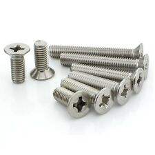 M2.5 M3 M4 M5 M6 A2 STAINLESS COUNTERSUNK MACHINE SCREWS  CSK SCREW DIN 965