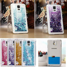 Transparent Quicksand Glitter Stars Bling Hard Case Cover For Samsung Galaxy