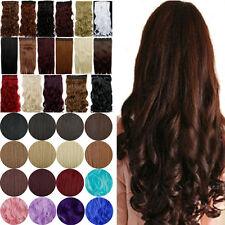 CA LMU Sexy Ladies Clip In Hair Extensions 3/4 Full Head 100% Best Synthetic Red