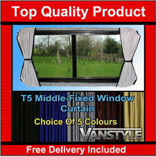 VW T5 Transporter Tailored Curtain Kit - Mid Window Non-Sliding Door - 5 Colours