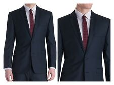 Giorgio Sanetti 100% Wool Super150's Modern fit 2 button 2 vents flat front navy