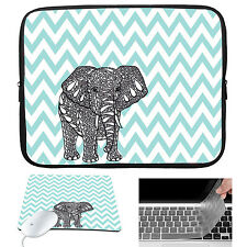 Waterproof Laptop Sleeve Case Bag + Mouse Pad+Keyboard Cover For Macbook Pro Air